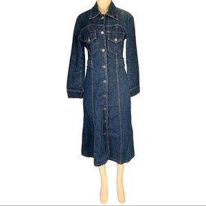 AnneX Women's Maxi Button Front Jean Dress
